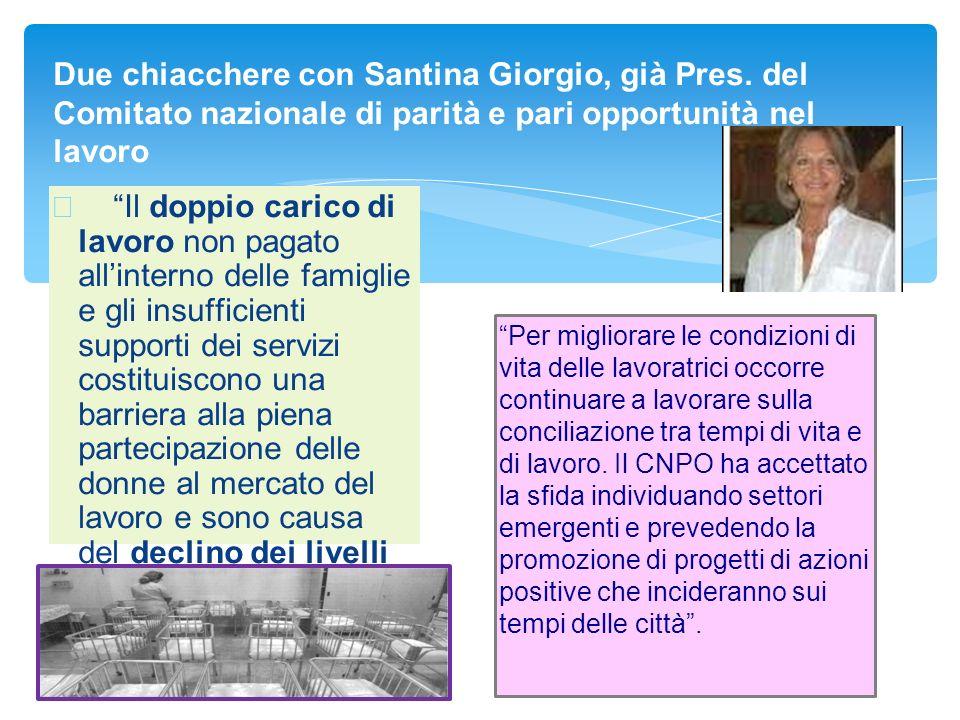 Due chiacchere con Santina Giorgio, già Pres