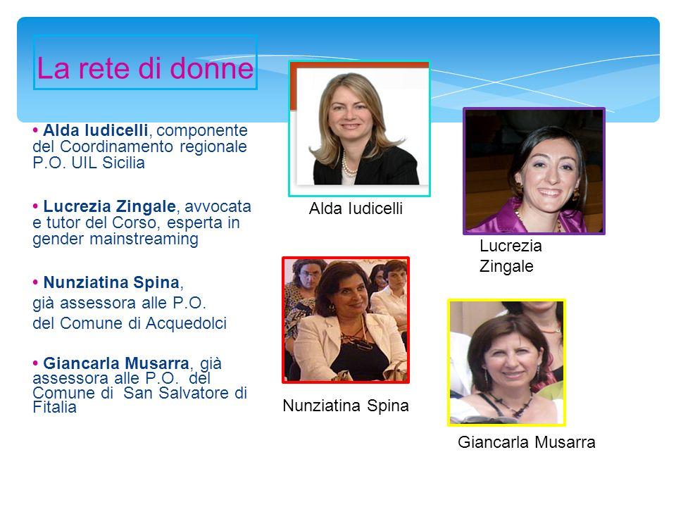 La rete di donne • Alda Iudicelli, componente del Coordinamento regionale P.O. UIL Sicilia.