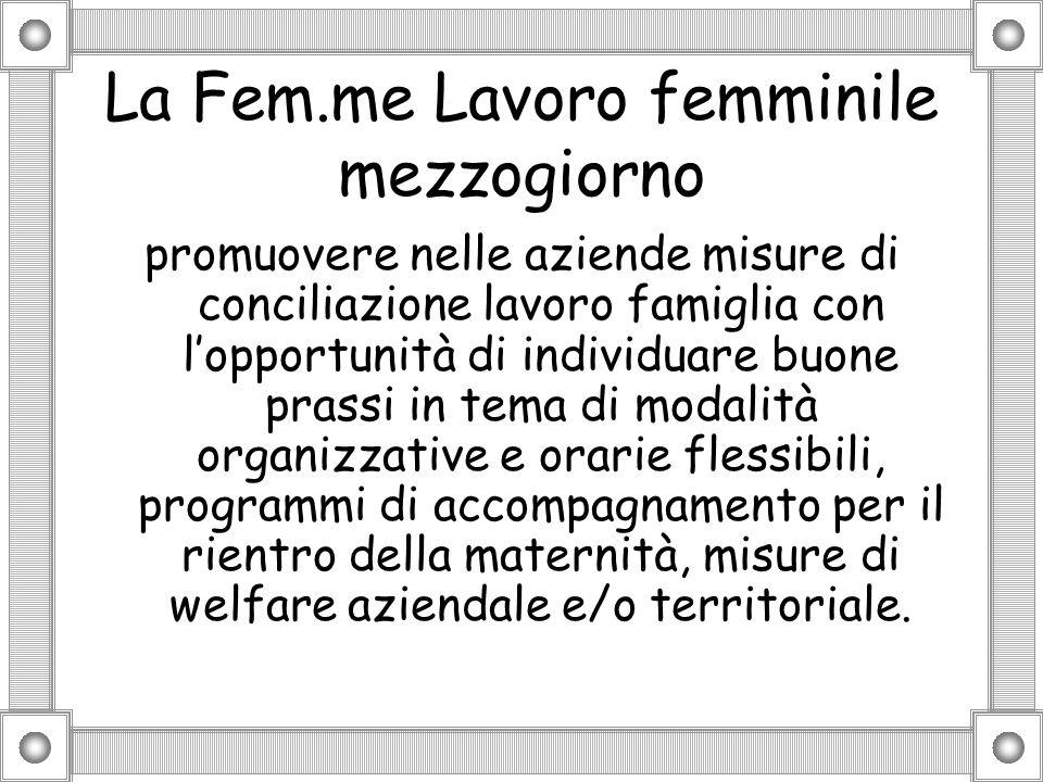 La Fem.me Lavoro femminile mezzogiorno