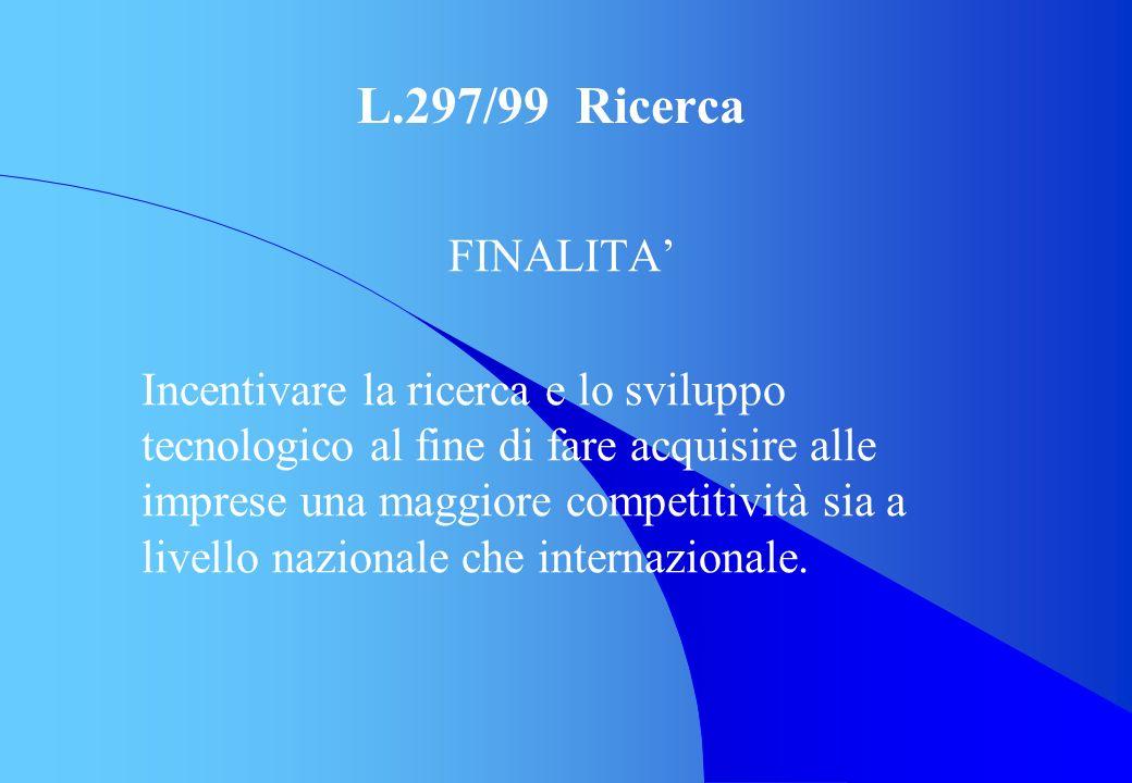 L.297/99 Ricerca FINALITA'