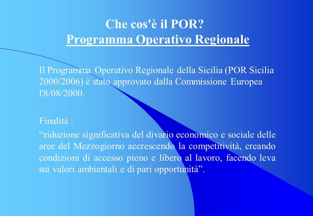 Che cos è il POR Programma Operativo Regionale