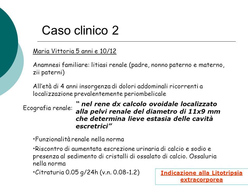 Indicazione alla Litotripsia extracorporea