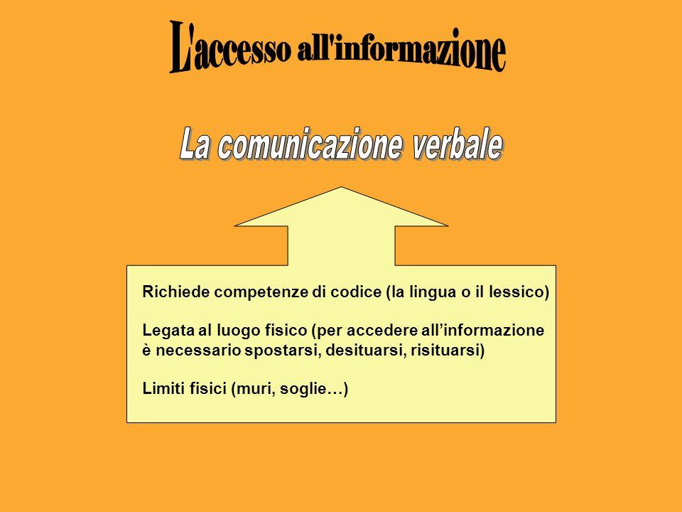 L accesso all informazione