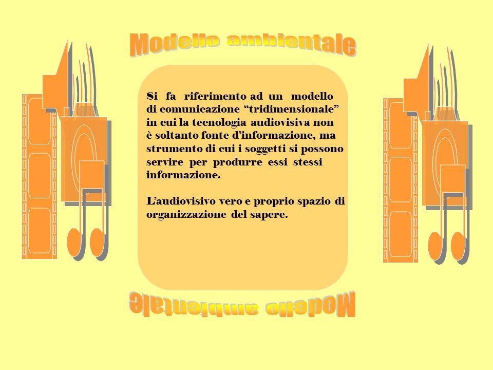 Modello ambientale Modello ambientale Si fa riferimento ad un modello