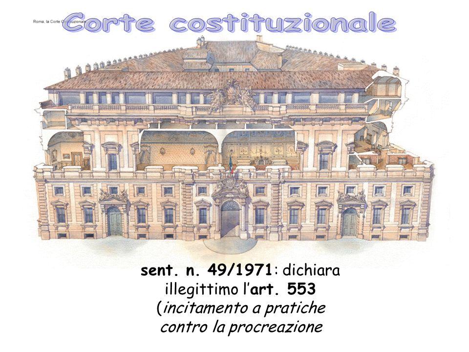 Corte costituzionale sent. n. 49/1971: dichiara illegittimo l'art.