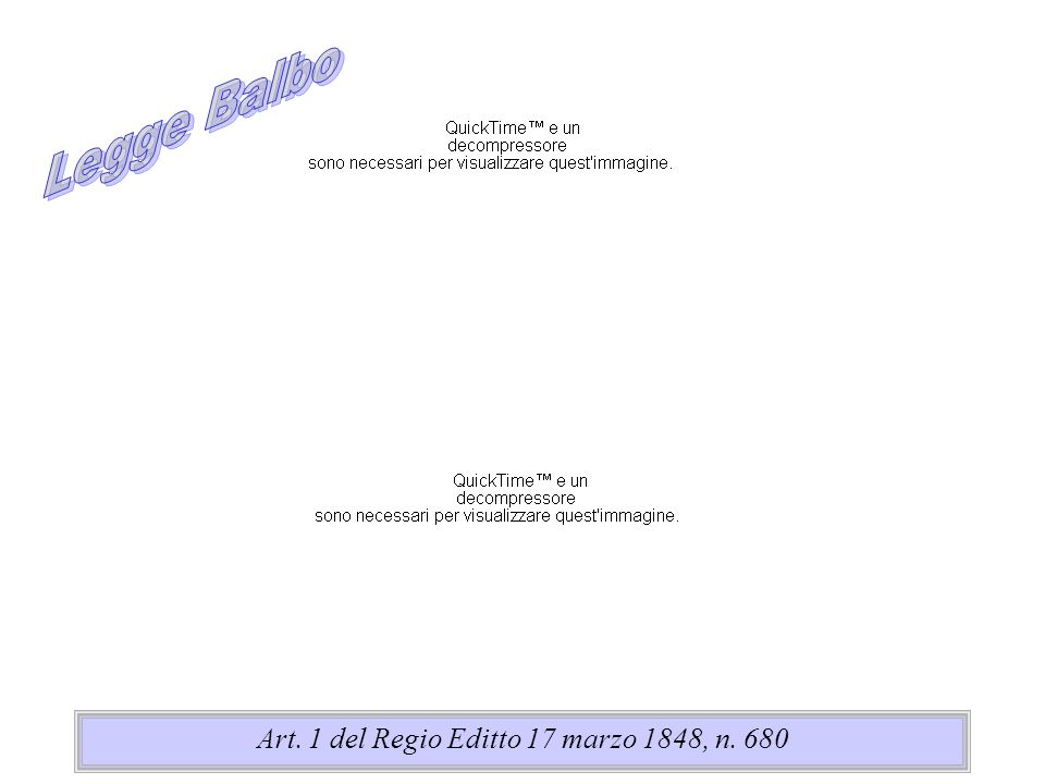Art. 1 del Regio Editto 17 marzo 1848, n. 680