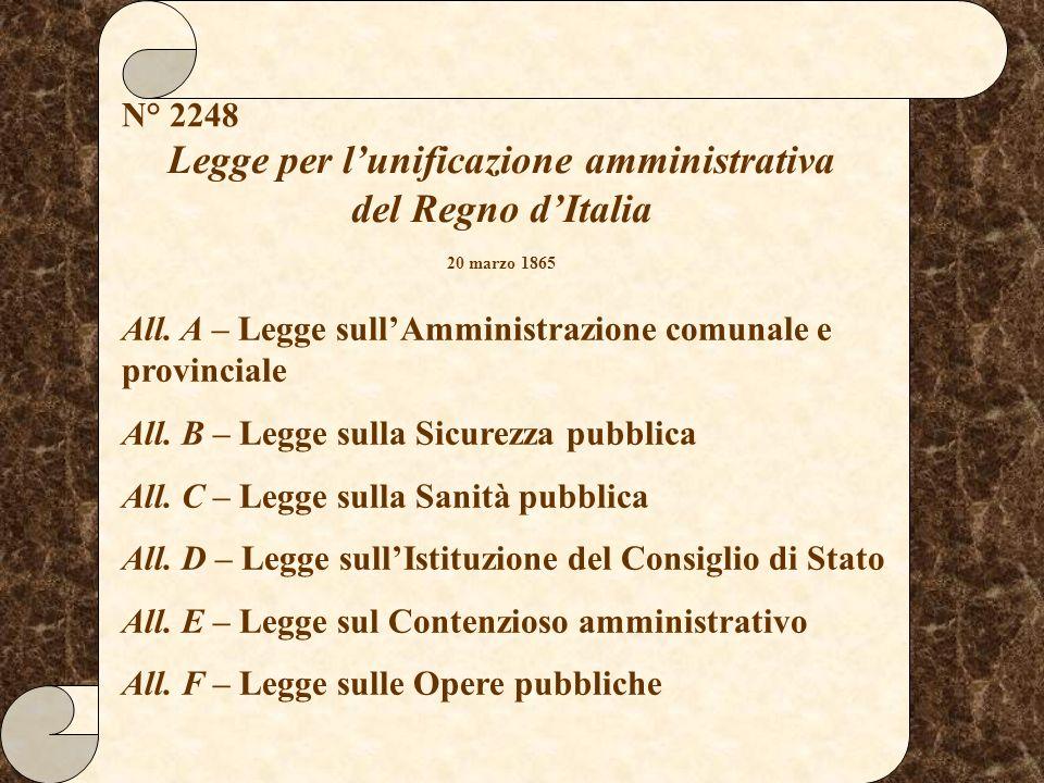 Legge per l'unificazione amministrativa