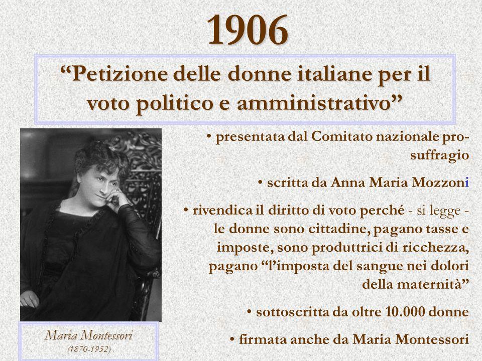 Petizione delle donne italiane per il voto politico e amministrativo