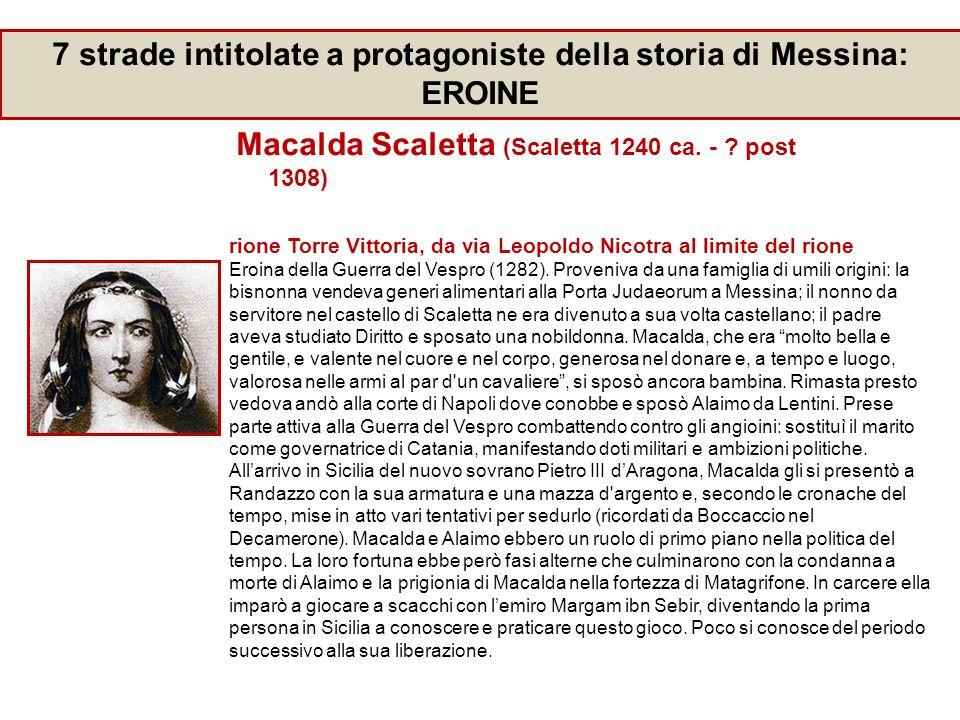 7 strade intitolate a protagoniste della storia di Messina: EROINE