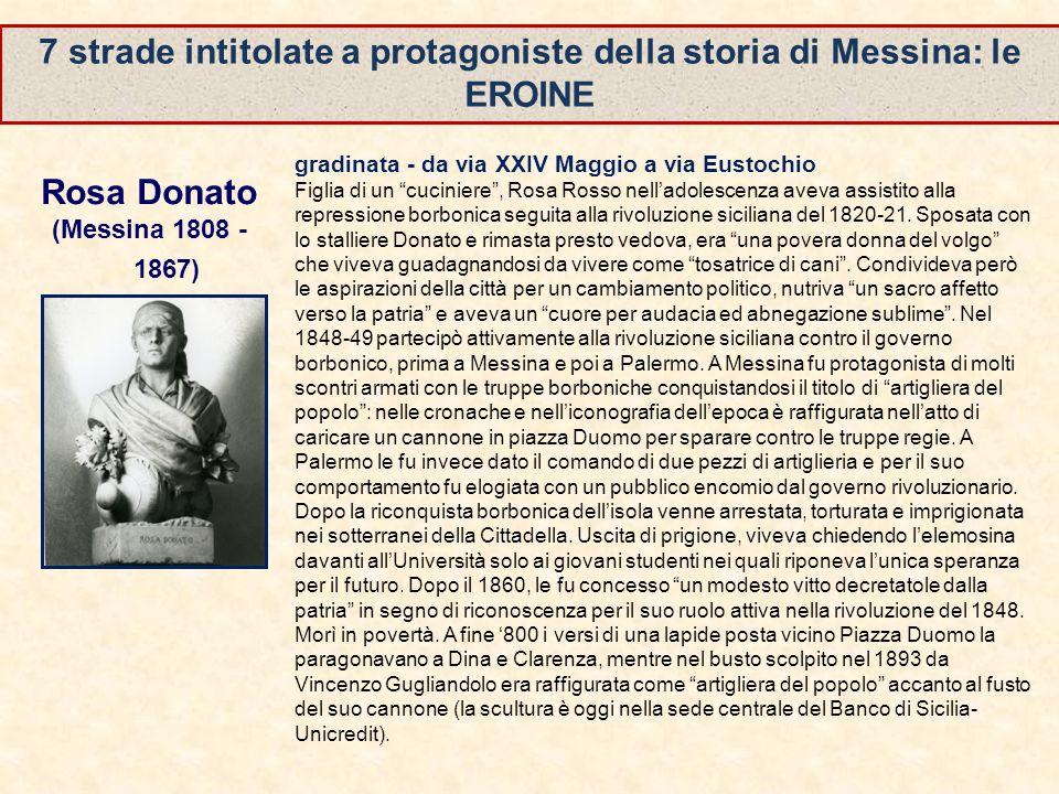 7 strade intitolate a protagoniste della storia di Messina: le EROINE