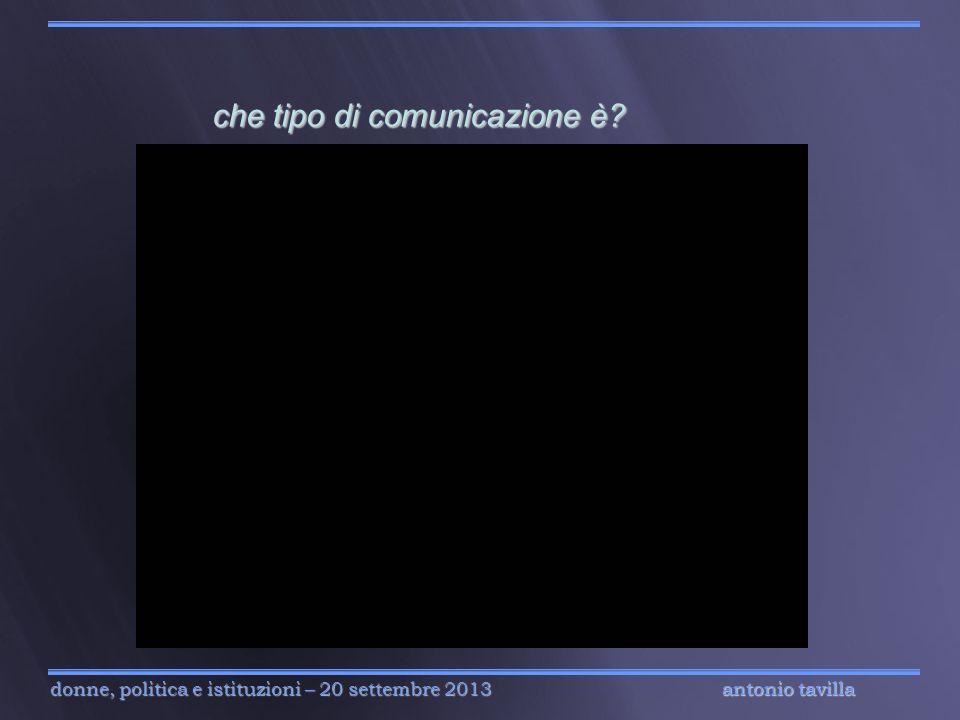 che tipo di comunicazione è