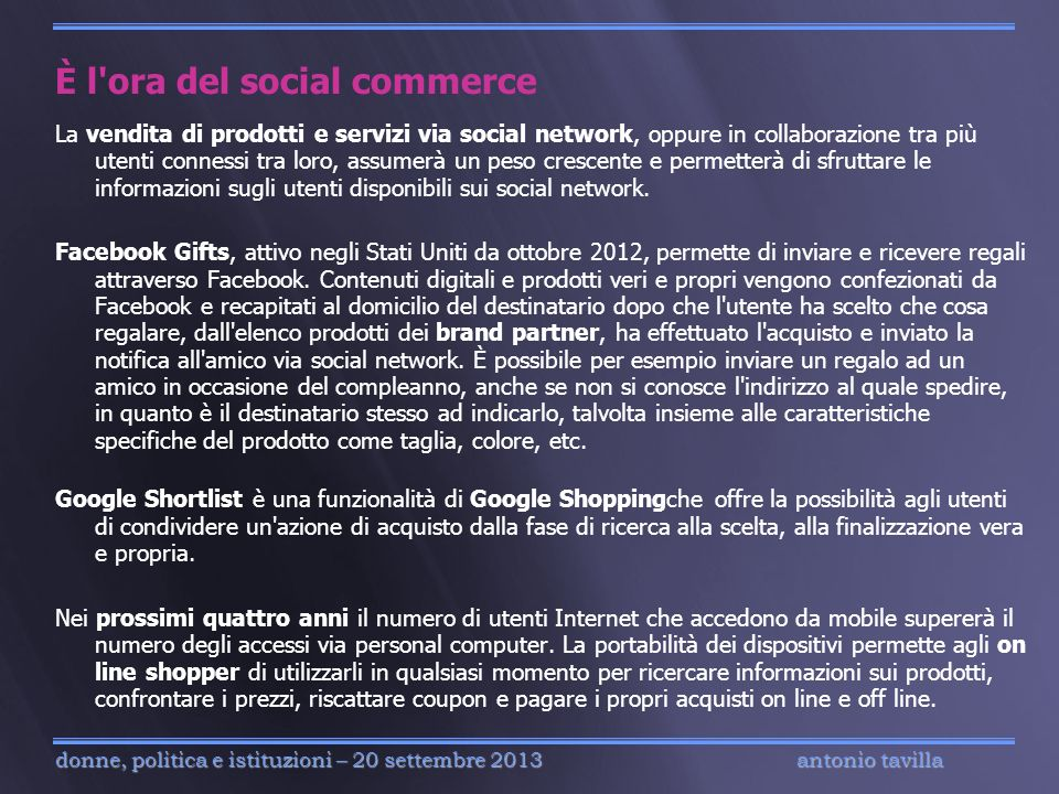 È l ora del social commerce