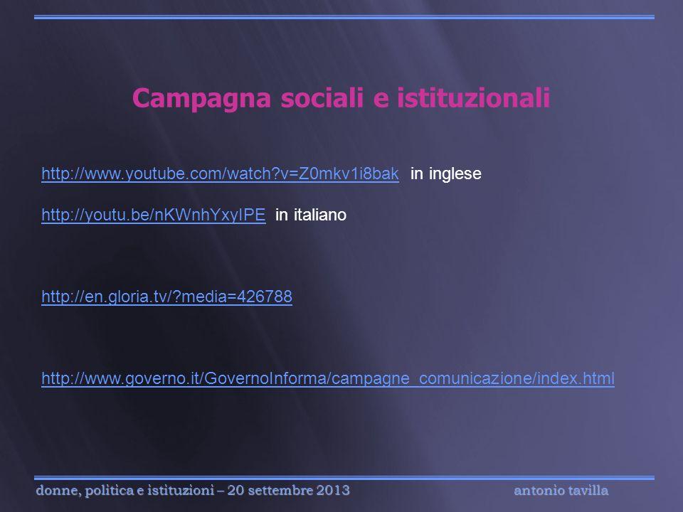 Campagna sociali e istituzionali