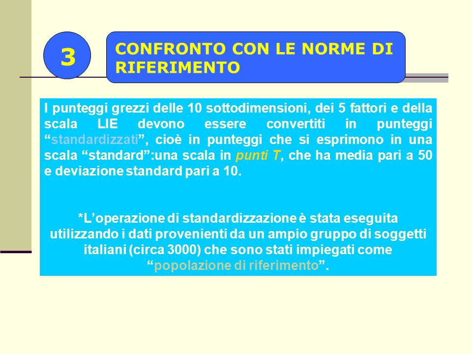 3 CONFRONTO CON LE NORME DI RIFERIMENTO