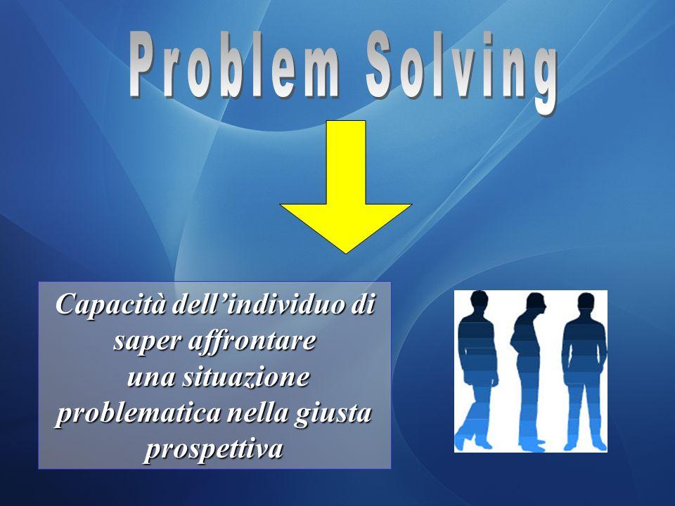 Problem Solving Capacità dell'individuo di saper affrontare