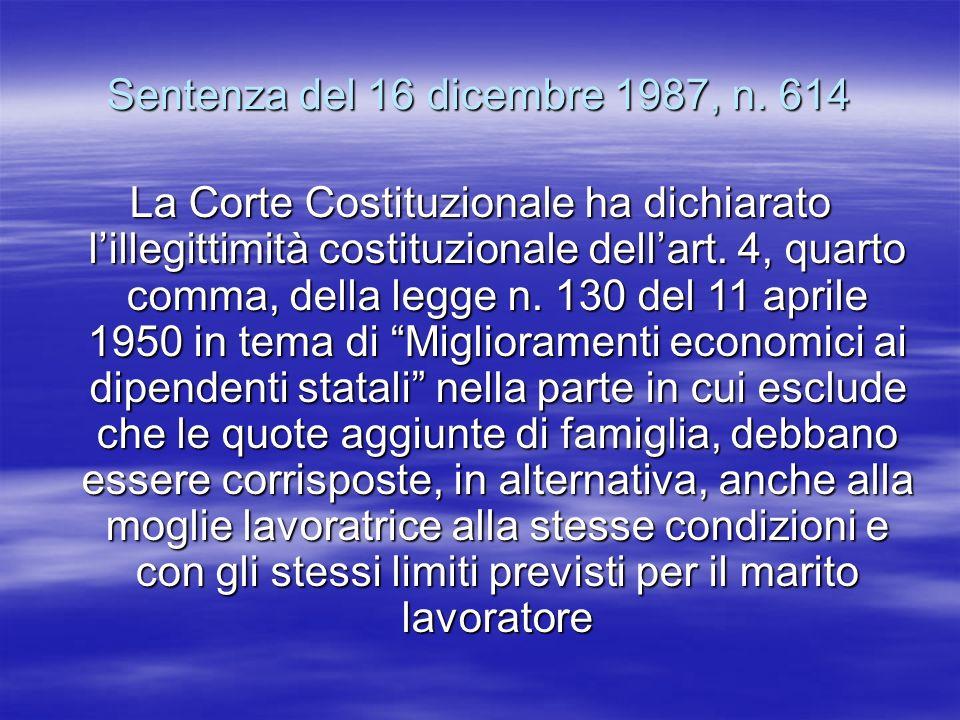 Sentenza del 16 dicembre 1987, n. 614