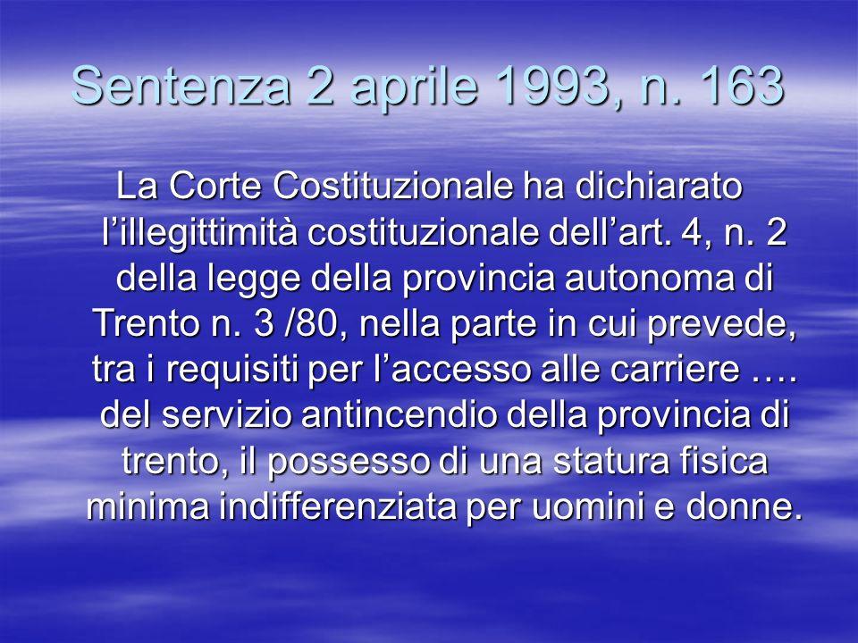 Sentenza 2 aprile 1993, n. 163