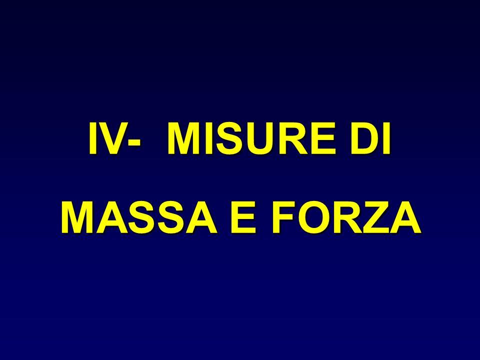 IV- MISURE DI MASSA E FORZA