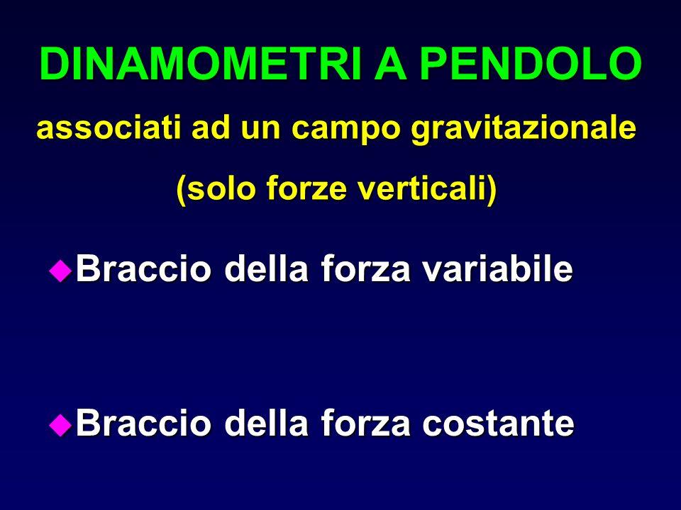 associati ad un campo gravitazionale (solo forze verticali)