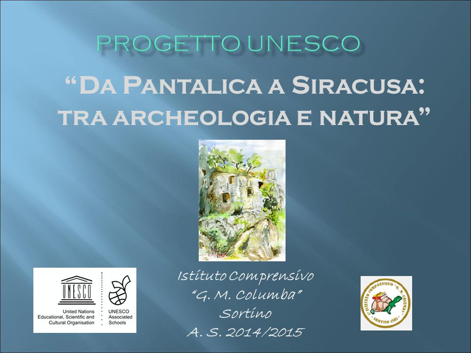 Istituto Comprensivo G. M. Columba Sortino A. S. 2014/2015