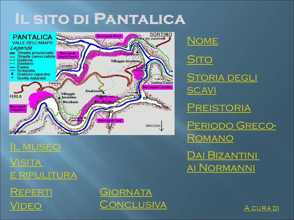 Il sito di Pantalica Sito Preistoria Il museo Nome Storia degli scavi