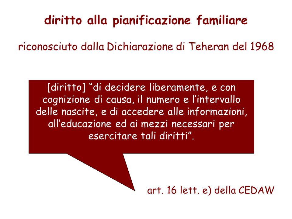 diritto alla pianificazione familiare