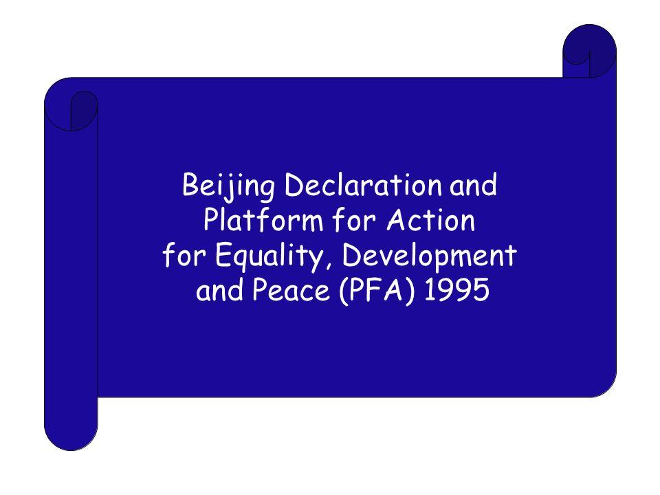 Beijing Declaration and Platform for Action for Equality, Development