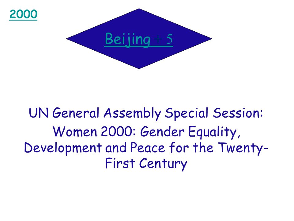 UN General Assembly Special Session: