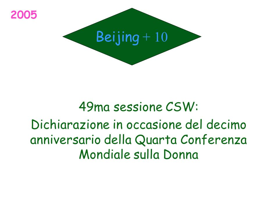 Beijing + 10 49ma sessione CSW: