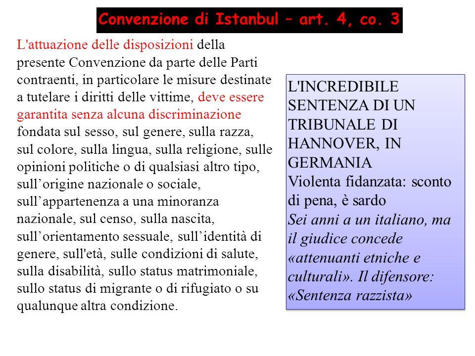 Convenzione di Istanbul – art. 4, co. 3
