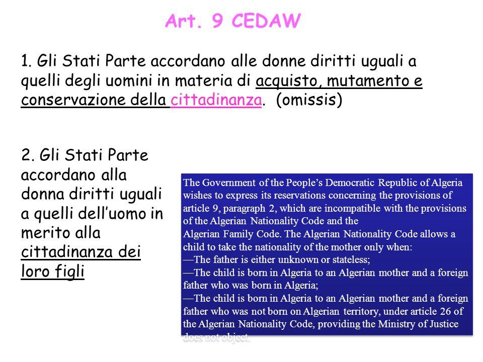 Art. 9 CEDAW
