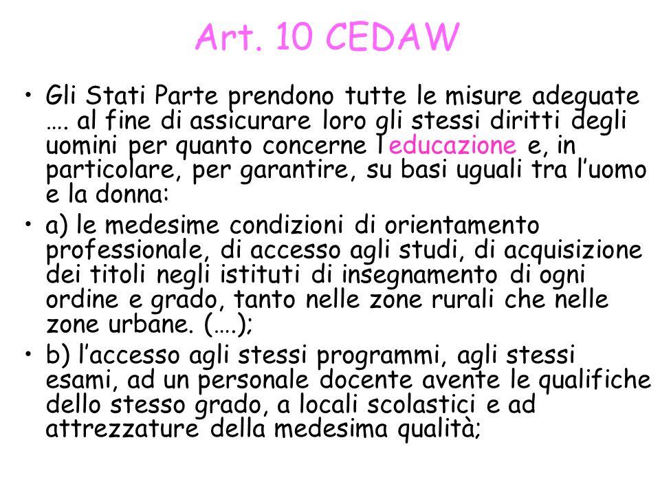 Art. 10 CEDAW