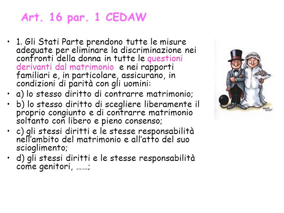 Art. 16 par. 1 CEDAW