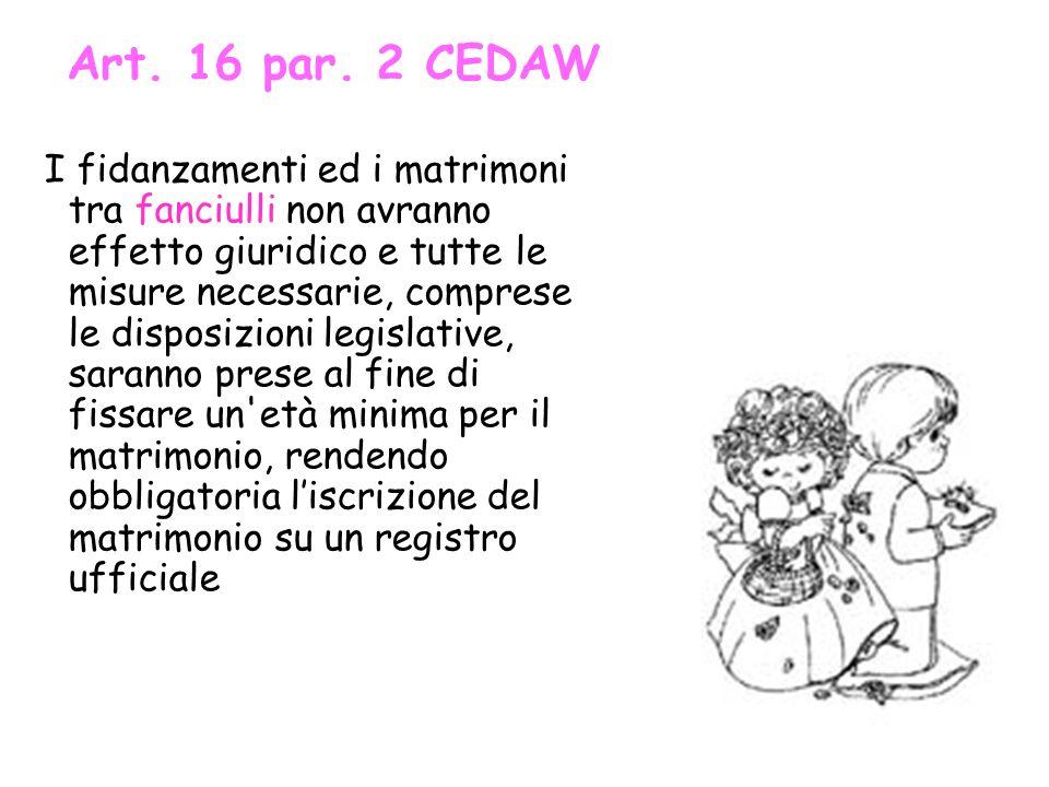 Art. 16 par. 2 CEDAW