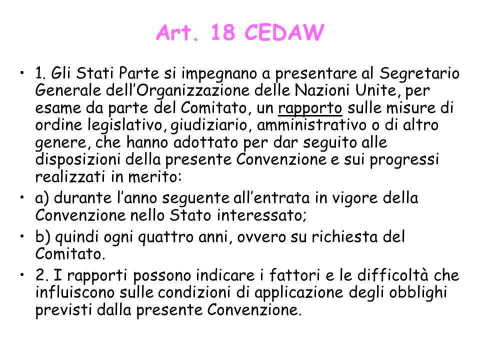 Art. 18 CEDAW