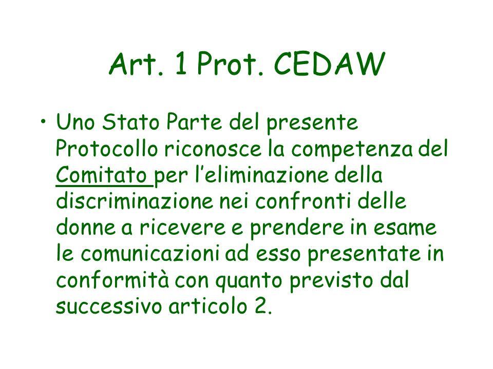 Art. 1 Prot. CEDAW