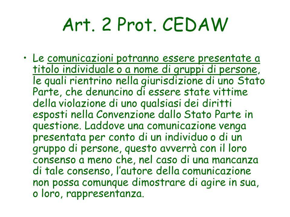 Art. 2 Prot. CEDAW