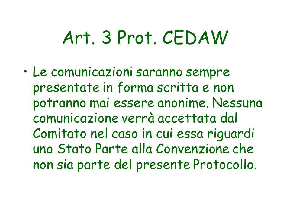 Art. 3 Prot. CEDAW