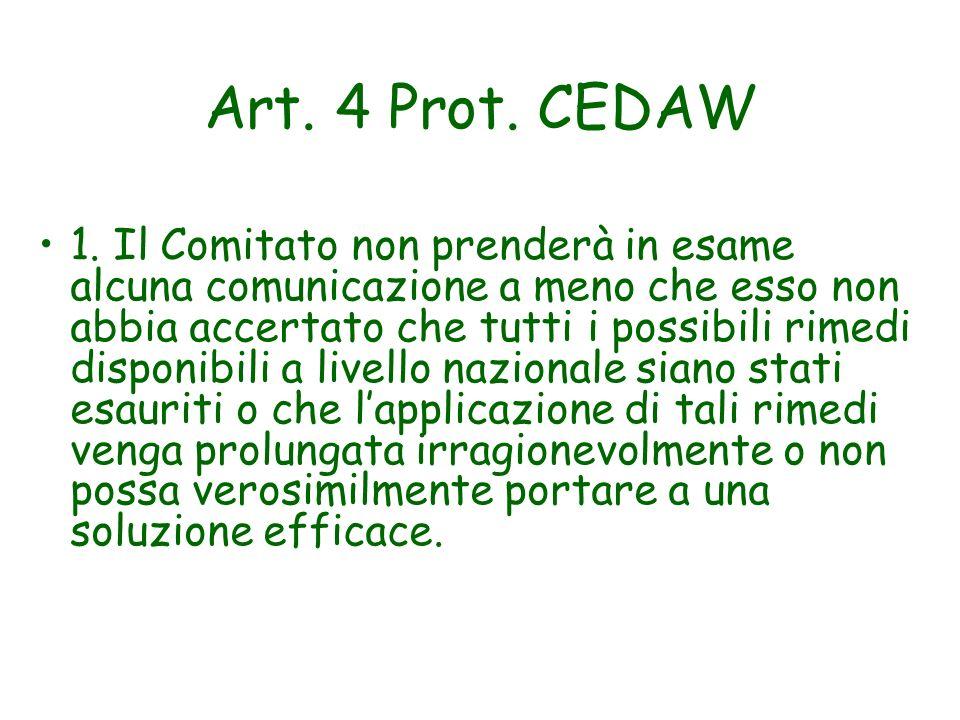 Art. 4 Prot. CEDAW