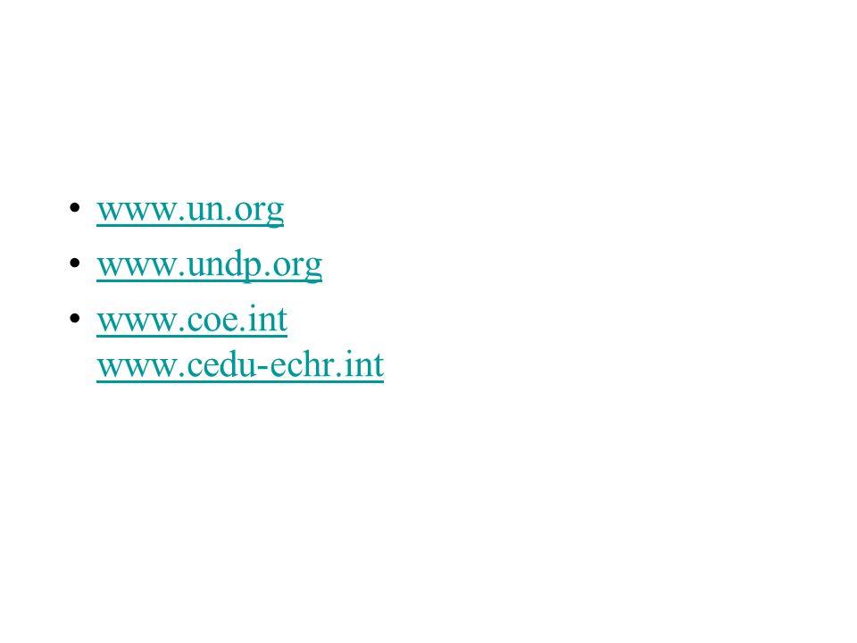 Alcuni riferimenti www.un.org www.undp.org