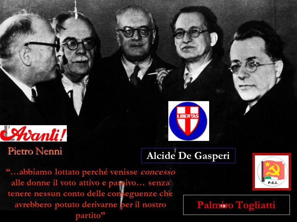 Alcide De Gasperi Palmiro Togliatti