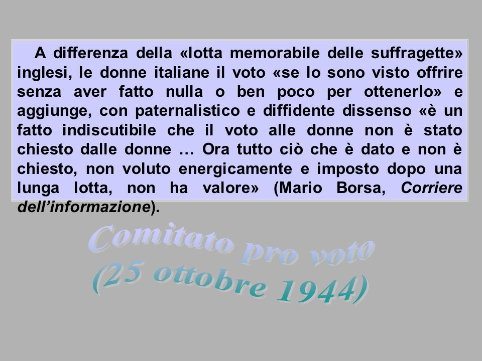 Comitato pro voto (25 ottobre 1944)