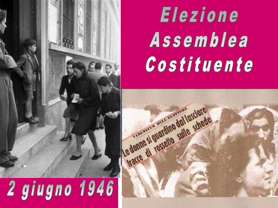 Elezione Assemblea Costituente 2 giugno 1946