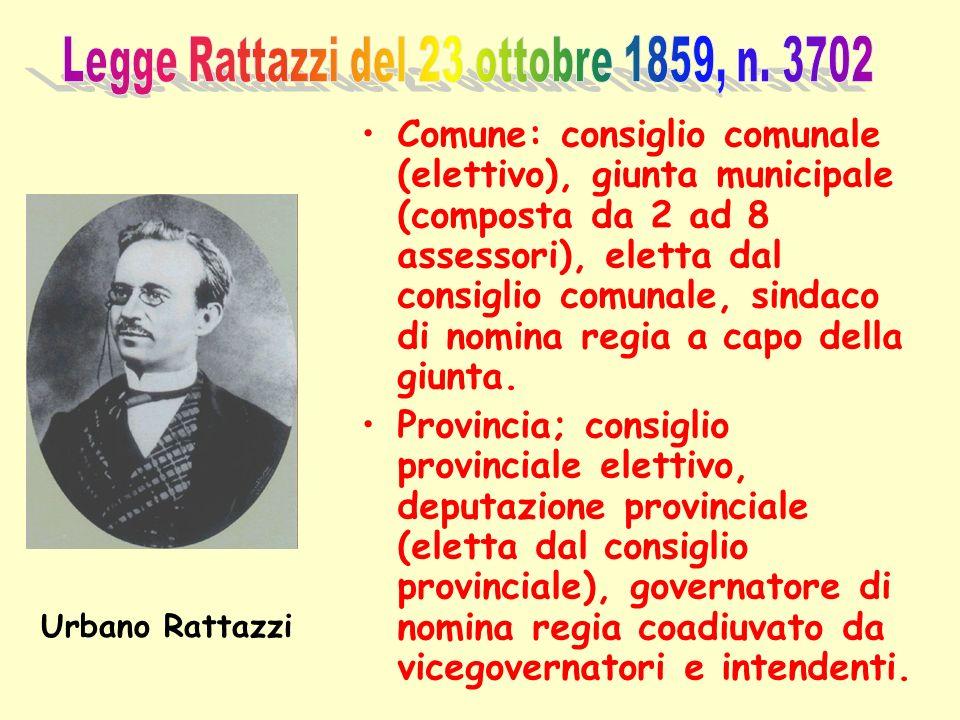 Legge Rattazzi del 23 ottobre 1859, n. 3702