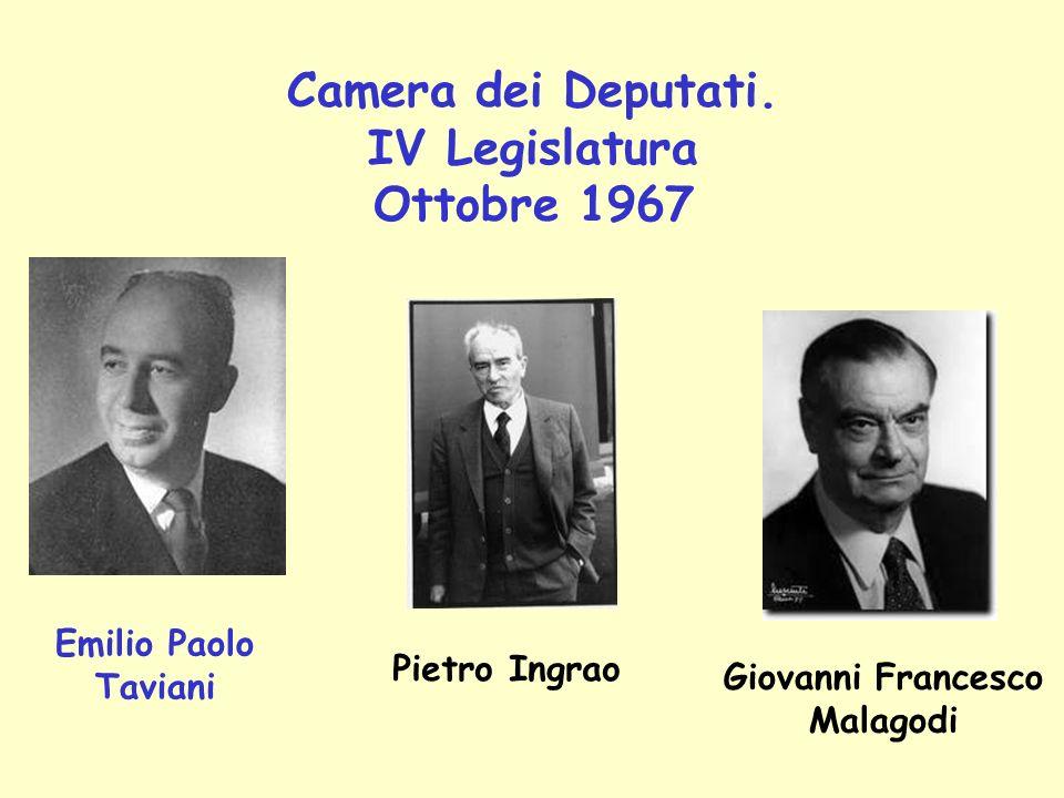 Camera dei Deputati. IV Legislatura Ottobre 1967