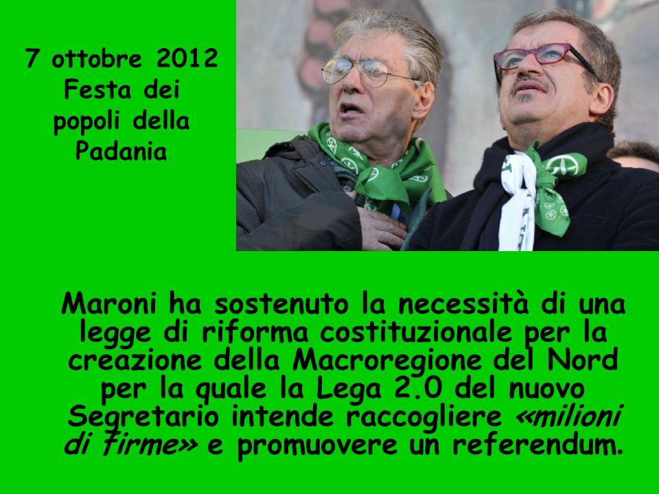 7 ottobre 2012 Festa dei popoli della Padania