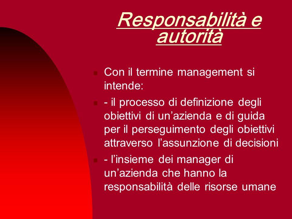 Responsabilità e autorità