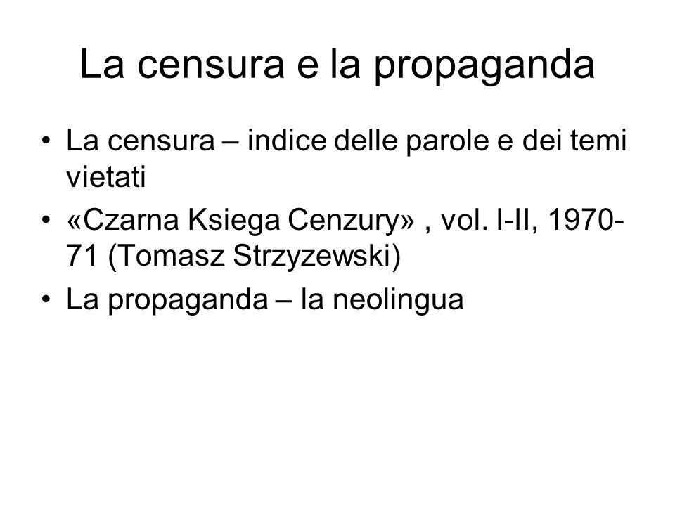 La censura e la propaganda