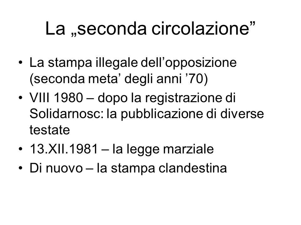 """La """"seconda circolazione"""