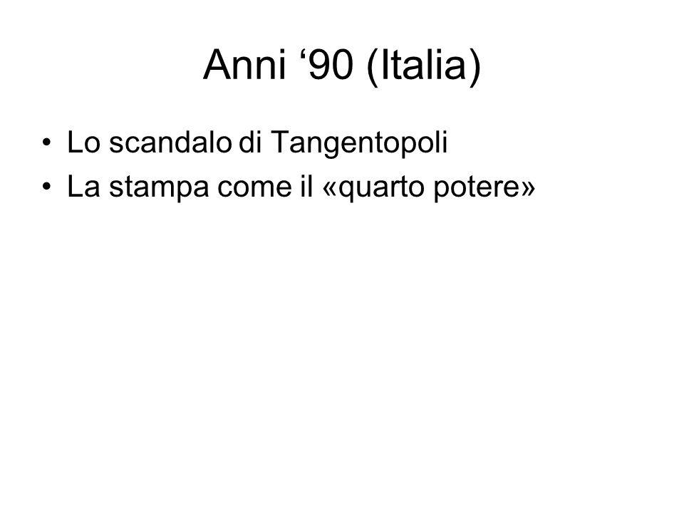 Anni '90 (Italia) Lo scandalo di Tangentopoli